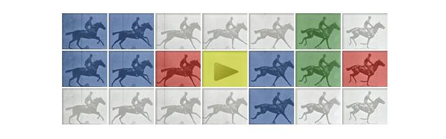 Google Eadweard J. Muybridge's Doodle , Film şeriti