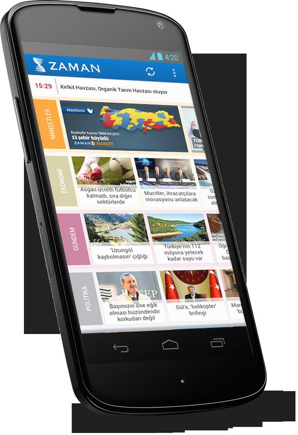 Zaman Android Uygulaması (2/2)