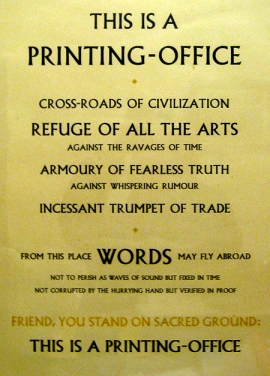 Beatrice Warde Printing Office